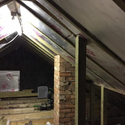 Roof insulation project